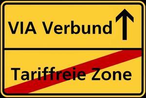 VIA tariffreie Zone