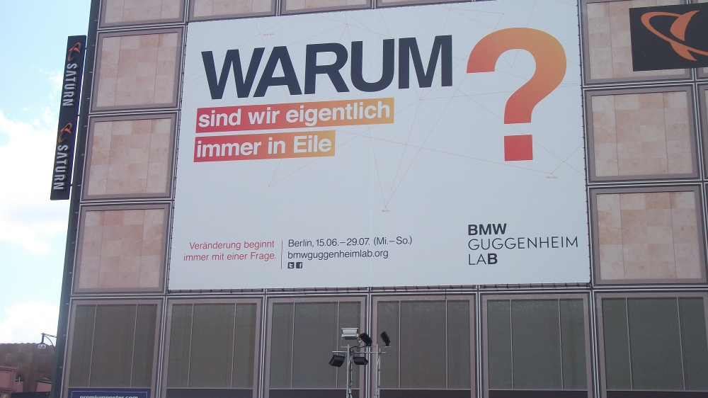 warum sind wir immer in Eile? 